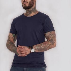 Camiseta básica azul oscuro