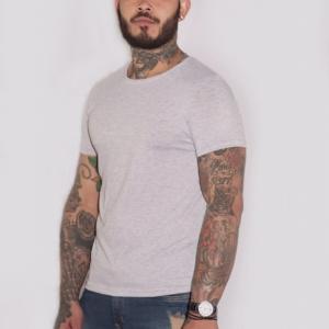 Camiseta básica gris claro